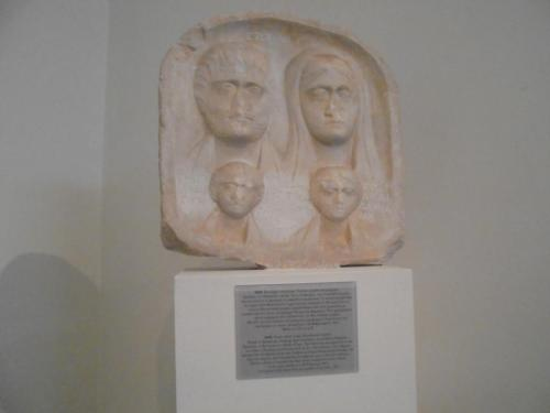 Grave releif from the mid 3rd Century AD depicting a family. Note the mother wears headcovering as her sign of marriage