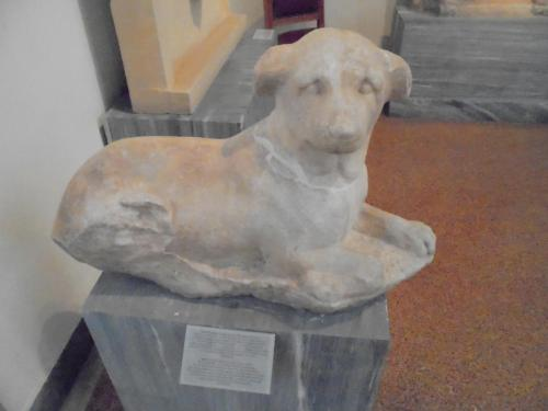 National Archaeological Museum of Athens. Funerary statue of a dog