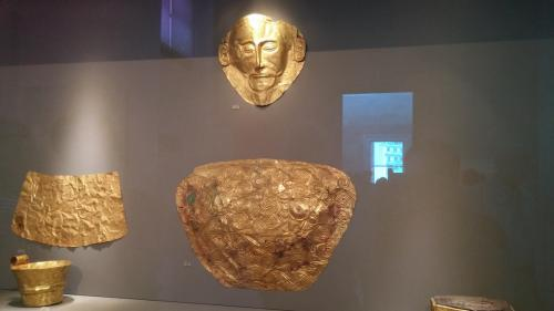 The Mask of Agamemnon is an artifact discovered at Mycenae in 1876